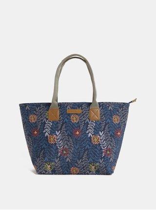 Geanta pentru shopping albastru inchis florala Brakeburn