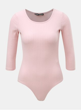 Body roz deschis cu striatii si maneci 3/4 TALLY WEiJL