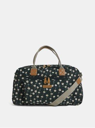 Tmavozelená kvetovaná taška Brakeburn