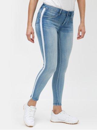 Modré skinny džíny s pruhem na nohavicích TALLY WEiJL
