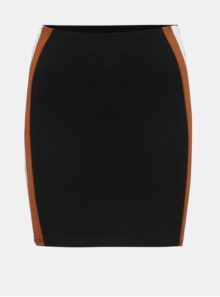 Černá pouzdrová sukně s pruhy na stranách TALLY WEiJL