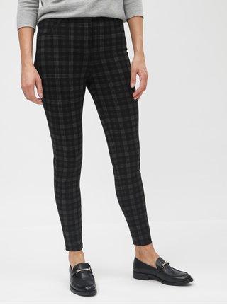 Pantaloni gri-negru skinny in carouri Dorothy Perkins