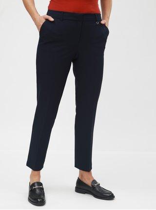 Pantaloni plisati albastru inchis slim fit Dorothy Perkins Naples