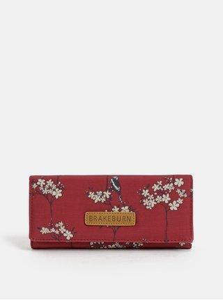 Červená velká vzorovaná peněženka Brakeburn