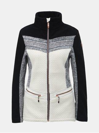 Jacheta negru-alb lejera din fleece de dama killtec Tea