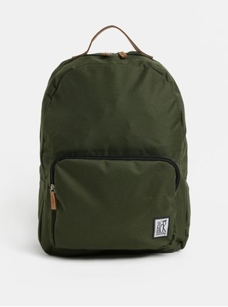 Tmavozelený batoh s predným vreckom The Pack Society