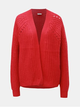 Cardigan rosu cu amestec de lana VILA Cabla