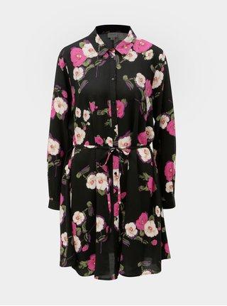 Černé košilové květované šaty Jacqueline de Yong Gitte