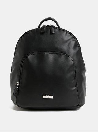 Černý koženkový batoh s přední kapsou ZOOT