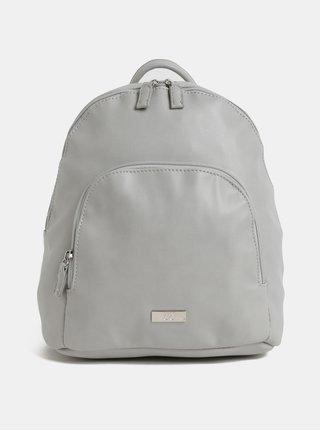 Světle šedý koženkový batoh s přední kapsou ZOOT