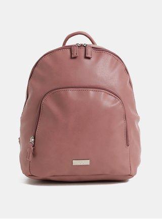 Starorůžový koženkový batoh s přední kapsou ZOOT