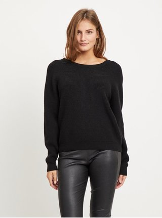 Černý svetr se zavazováním na zádech VILA Sia
