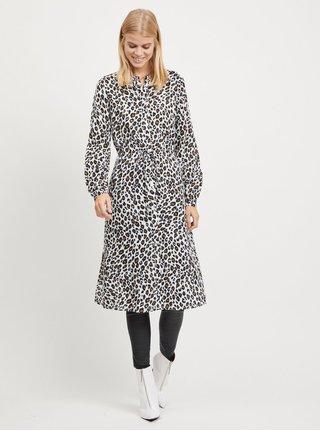 Biele leopardie košeľové šaty VILA Kamia 4e99bdc6d9c