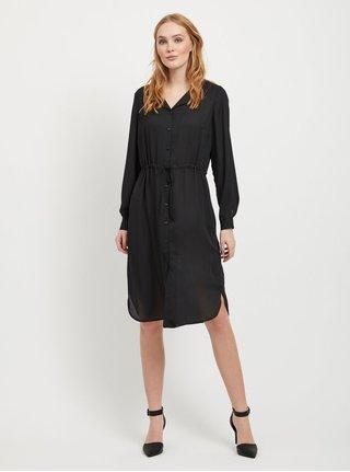 Černé košilové průsvitné šaty VILA Lucy
