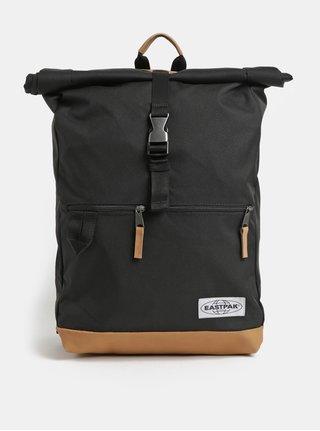 Černý batoh s koženými detaily Eastpak Macnee 24 l
