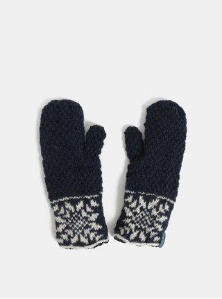 Bílo-modré vzorované vlněné palčáky Tranquillo Timaos