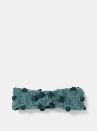 Bentita albastra din lana cu buline Tranquillo Ask