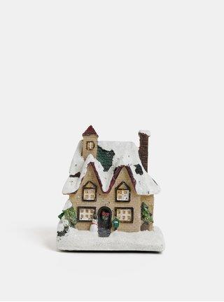 Svítící vánoční dekorace ve tvaru domečku Kaemingk