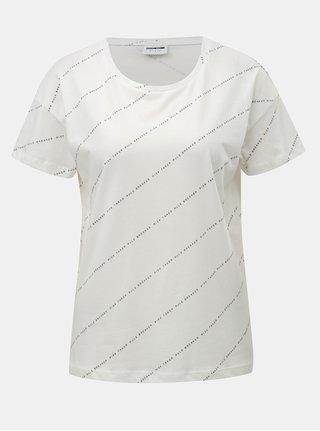 Tricou alb cu imprimeu Noisy May Alfred