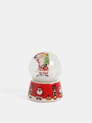 Červené vánoční sněžítko s motivem Santa Clause Kaemingk