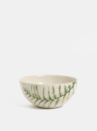 Zeleno-bílá vzorovaná miska Kaemingk