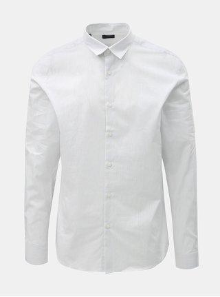 Biela pruhovaná slim fit košeľa s dlhým rukávom Selected Homme Slim John