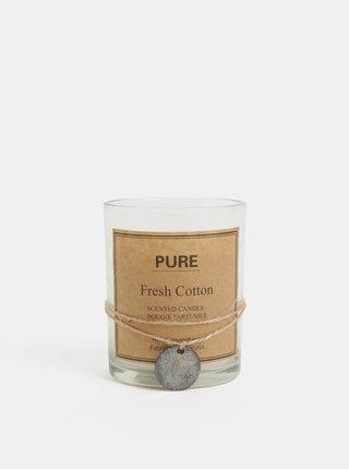 Lumanare alba in sticla cu aroma de bumbac Kaemingk