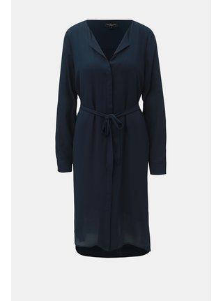 Tmavě modré košilové šaty Selected Femme Dynella