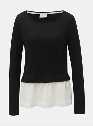 Top negru cu bluza cusuta VILA Tatiana