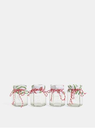 Set de borcanele de Craciun din sticla cu inscriptie Kaemingk