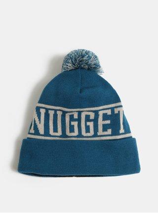Modrá unisex čepice s bambulí a nápisem NUGGET Canister
