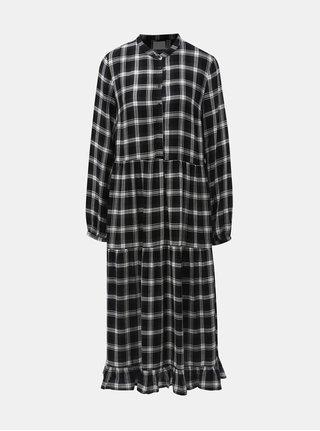 Bielo–čierne kockované košeľové šaty Vila Kallie