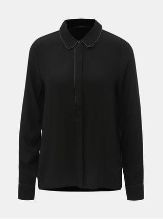 Černá košile se skrytou légou VERO MODA Mai