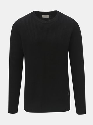 Černý svetr s kulatým výstřihem Jack & Jones Andreas