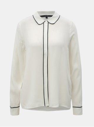 Bílá košile se skrytou légou VERO MODA Mai
