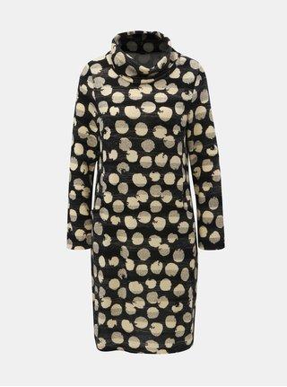 Krémovo-černé puntíkované šaty s rolákem Smashed Lemon