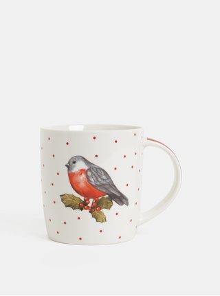 Červeno-bílý keramický hrnek s vánočním motivem Cooksmart Xmas