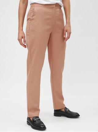 Starorůžové vlněné chino kalhoty Selected Femme Gracina