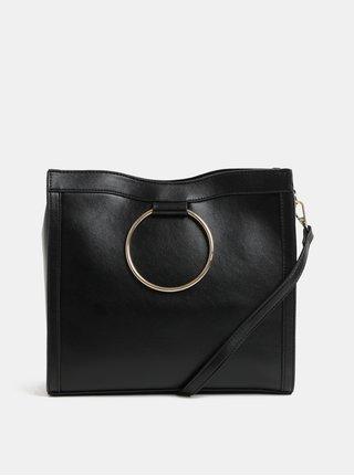 Černá koženková kabelka Miss Selfridge