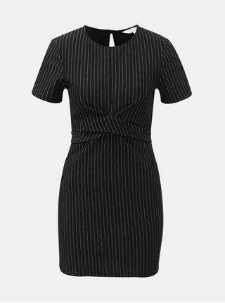 Černé pruhované šaty Miss Selfridge Petites
