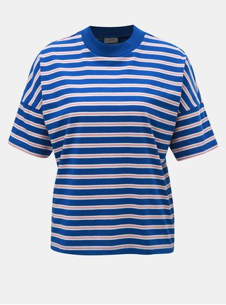 Růžovo-modré pruhované tričko Jacqueline de Yong Maike