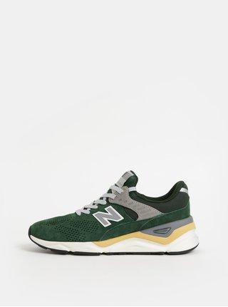 Zelené pánské semišové tenisky New Balance