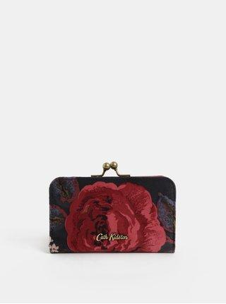 Červeno-šedá dámská květovaná peneženka  Cath Kidston