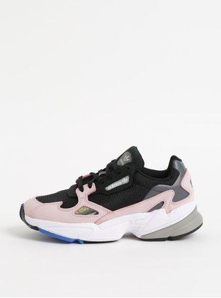 Adidasi roz-negru de dama din piele adidas Originals Falcon