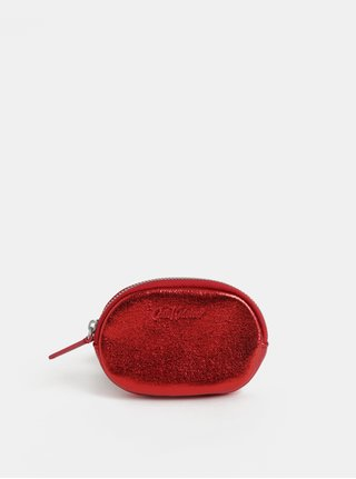 Červená dámska trblietavá peňaženka na mince Cath Kidston