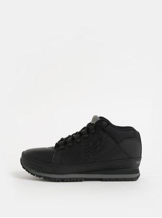 Černé pánské kožené kotníkové tenisky New Balance