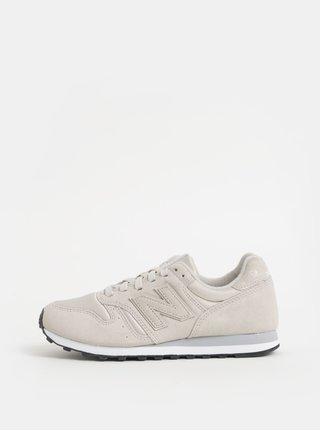 Pantofi sport gri deschis de dama din piele intoarsa cu imprimeu pe calcai New Balance
