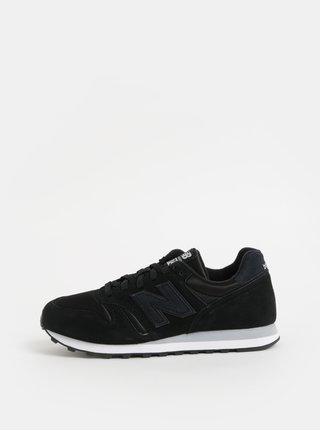 Pantofi sport negri de dama din piele intoarsa cu imprimeu pe calcai New Balance