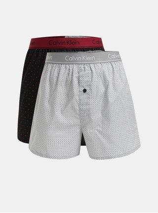 Set de 2 boxeri gri, negru si bordo Calvin Klein Underwear