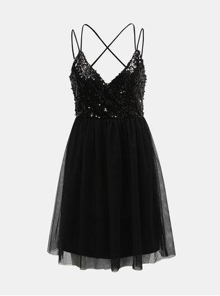 Černé šaty s flitry ONLY Zille